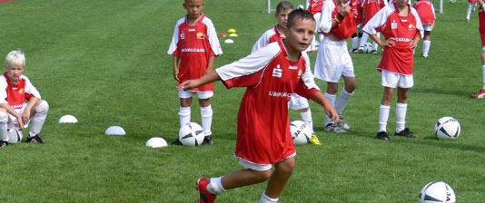 Fußballschule für die junge Zielgruppe